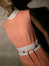 CHIC VINTAGE ROBE 1960 VTG DRESS 60s MOD TWIGGY KLEID 60er ABITO RETRO (36/38)