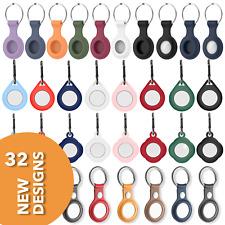 RM Silikon Leder Schutzhülle für Apple AirTag Schlüssel Anhänger Case 32 Designs