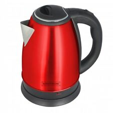 Royalty Line Red Stainless Steel Kettle 1.7L Euro Plug - UK Adapter Included