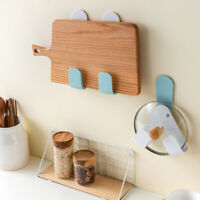 KQ_ Adjustable Wall Mount Adhesive Rotary Lid Chopping Board Holder Storage Rack