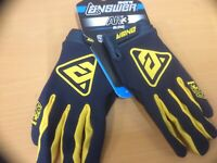 Answer Racing AR3 Adult Motox MX Mtb Bike Off Road Blue Yellow Gloves size Large