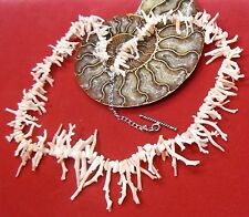 NATURAL UNTREATED ANGEL SKIN PINK HAWAII CORAL BRANCH BEADS NECKLACE 175cts