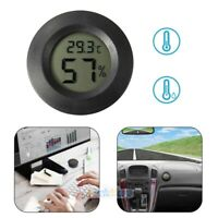 """Digital Cigar Humidor Hygrometer Thermometer 1 3/4"""" Inch Round Black Face 2019"""