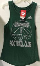 PORTLAND TIMBERS WOMEN'S ADIDAS MLS DK GREEN HEATHER NEPPED TANK SMALL