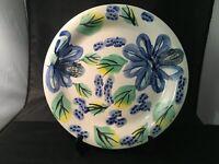 ROYAL NORFOLK DINNER PLATE RNF106 WHIMSICAL BLUE YELLOW GREEN FLOWER MWDW SAFE B