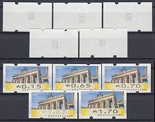 Bund ATM 6 VS 1 ** Brandenburger Tor 5 Werte komplett mit Zählnummern postfrisch