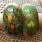 BRACELETS FANTAISIE EN PAPIER MACHE ENTIEREMENT PEINTS A LA MAIN LOT DE 2 VERTS