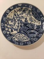 Large Antique Japanese Edo Period Porcelain Soup Plate Bowl 19th century 8.5""