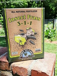 Down to Earth Fertilizer Insect Frass 3-1-1 All Natural Organic Use. 2 lbs New