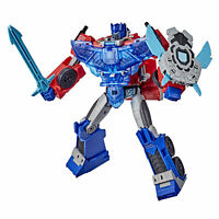 NEW Transformers Cyberverse Leader Class Battle Call OPTIMUS PRIME Collectable