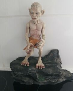 """Lord of the Rings: Gollum Figure.  Width:11"""".  Height:12.1/2"""".  He speaks."""
