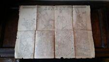 Antique Original City Map Antique Folding Maps