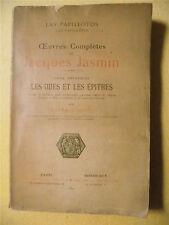 OEUVRES COMPLÈTES DE JACQUES JASMIN LES ODES ET LES ÉPITRES GASCOGNE TOME 3 SEUL