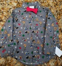 Disney Mickey Mouse Button Down Shirt With Red Bowtie- Mickey Friends- 18 Months