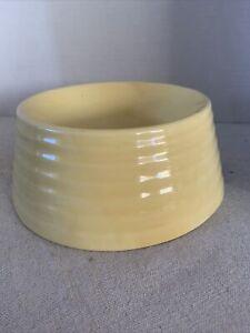 Vintage USA Pottery Ringware Yellow Dog Bowl, Bauer? Shawnee?