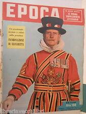 EPOCA 17 gennaio 1953 Incoronazione di Elisabetta II banditismo sardo Bottonuto