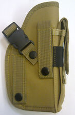 TAN NEW MOLLE Ambidextrous RIGHT LEFT HAND BELT HOLSTER for GUN PISTOL REVOLVER