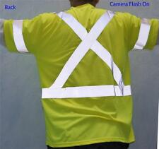 Size XL Yellow Retro Reflective Safety TSHIRT With Pocket CSA Z96 CLASS 3