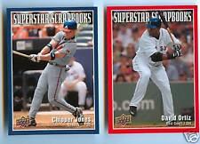 Chipper Jones David Ortiz UD Superstar Scrapbooks