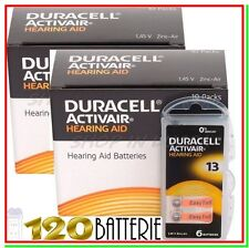 120 DURACELL 13 PR48 ACTIVAIR Batterie Protesi Pile per Apparecchi Acustici