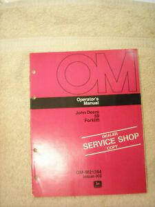John Deere OM-W21394  operators manual for # 59 forklift issue K6