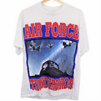 W78 Vintage Fruit of the Loom Air Force Thunderbirds Men's Shirt Large
