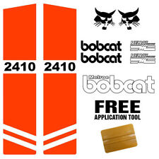 Bobcat 2410 Skid Steer Set Vinyl Decal Sticker Kit 9 PC SET + FREE APPLICATOR