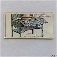 Wills Household Hints 1930 Cigarette Card #48 Old Washstand (CC67)