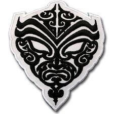 Maori Mayan Mask Patch Iron on Sew Tribal Tattoo Indian Biker Skull Cap Tribe