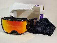 NEW Women's Burton Anon Deringer MFI Snow Goggles (Red Solex Lens & Facemask)
