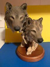 Vintage Wolves Sculpture Mill Creek Studios Sculpture Wolves Figurine