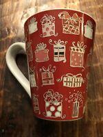 Nice 2004 Red & White STARBUCKS Christmas Presents Tall Coffee Mug