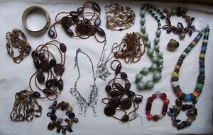 Reduced Job Lot Of Ethical Jewellery  Wholesale Lot Bracelets Necklaces Ring