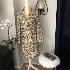 See By Chloe, Zebra Print Wool Blend Coat, M (38), MSRP $1150