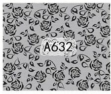 Nail Art Decals Transfers Stickers Lace Flower Pattern (A-632)