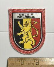 Belgie Belgique Belgium Belgian Flag Lion Heraldry Crest Souvenir Patch Badge
