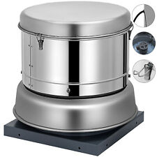Vevor Restaurant Canopy Hood Grease Rated Down Blast Exhaust Fan 1400 Cfm 250w