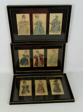 Antique 1800's Fashion Prints Recently Framed 3 Pieces
