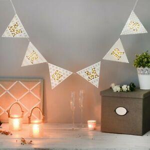 LED Light Up Bunting - Mr and Mrs Bunting - Wedding Lights Decor Bunting