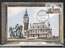 FDC CP 1°JOUR**CALAIS-HOTEL DE VILLE...OBL.CALAIS-1961**TIMBRE Y/T.1316