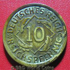 GERMANY WEIMAR 1935-A 10 REICHSPFENNIG BERLIN MINT GERMAN WORLD COIN 4gr 21mm