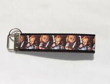 Chucky Child's Play Horror Ribbon Webbing Keychain Wristlet Key Fob 6 inch