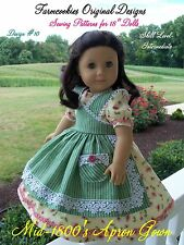 SEWING PATTERN for American Girl Doll by Farmcookies /Historical Apron Gown