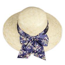 Strohhut Sonnenhut Sommerhut Strandhut Damenhut Sonnenschutz beige Hutband bunt
