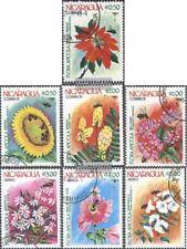 Nicaragua 2490-2496 (kompl.Ausg.) gestempelt 1984 Blumen