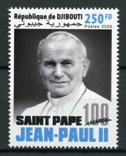 Djibouti Famous People Stamps 2020 MNH Pope John Paul II Popes 1v Set