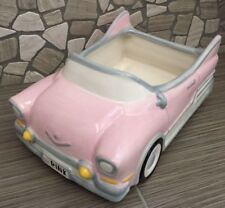 Ceramic Pink Car Planter or Flower Arrangement