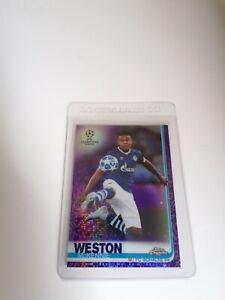 Weston McKennie Topps Chrome Champions League Schalke RC Card