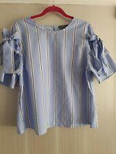 Primark Size 16 Ladies Blue Cotton Shirt Blouse