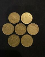 France Coins Lot - Pre-Euro French Coins - Lot of 20 Centimes